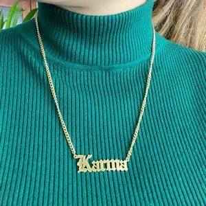 Jewelry - Stainless steel gold Karma Necklace